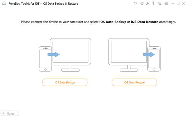 Wählen Sie iOS Daten Backup Option
