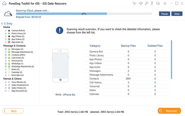 Starten Sie das FoneDog Toolkit - iOS Data Recovery