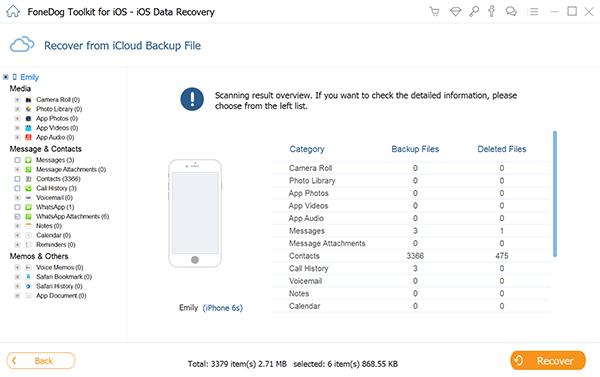 Wählen Sie Dateityp iCloud