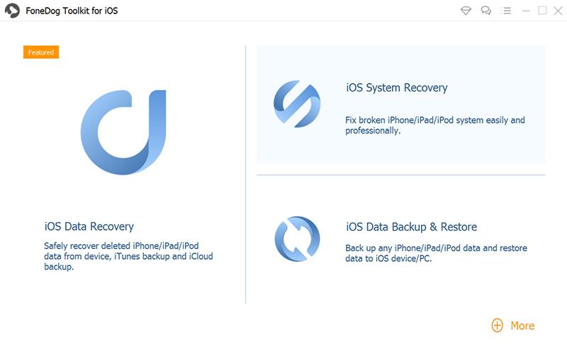 Laden Sie FoneDog iOS Data Recovery herunter, installieren Sie es, starten Sie es und verbinden Sie das iPhone