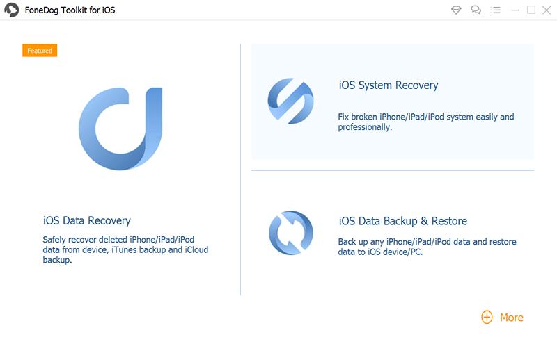 Wählen Sie iOS System Recovery