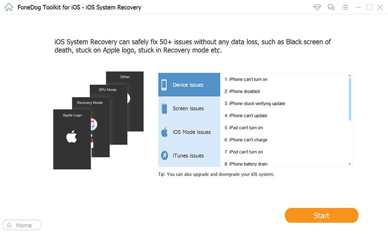Klicken Sie auf Start, um Ihr iPhone auf Probleme zu überprüfen