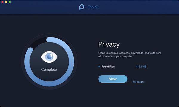 Scannen von Privatsphäre