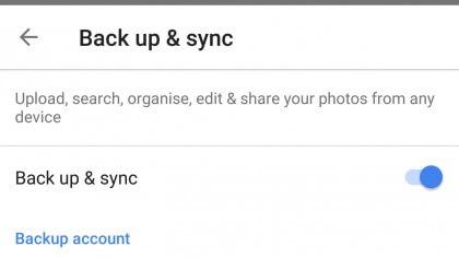 Backup-Synchronisierung bei Google