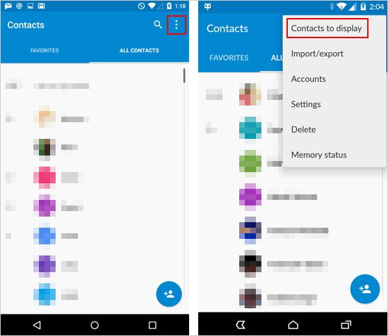 Gelöschte Kontakte werden auf Ihrem Android-Handy ausgeblendet