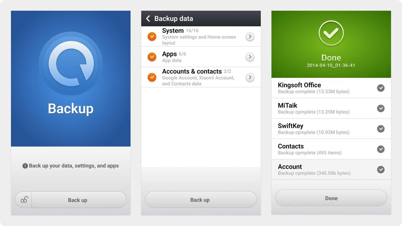 Wiederherstellen von Xiaomi App Backup