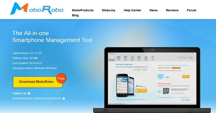 Beste Android-Backup-Software für PC-Moborobo