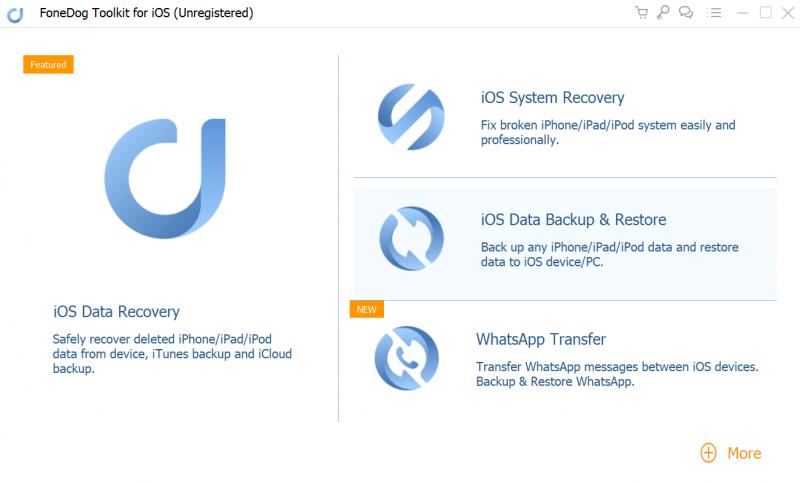Registrieren Sie Fonedog ios Data Recover
