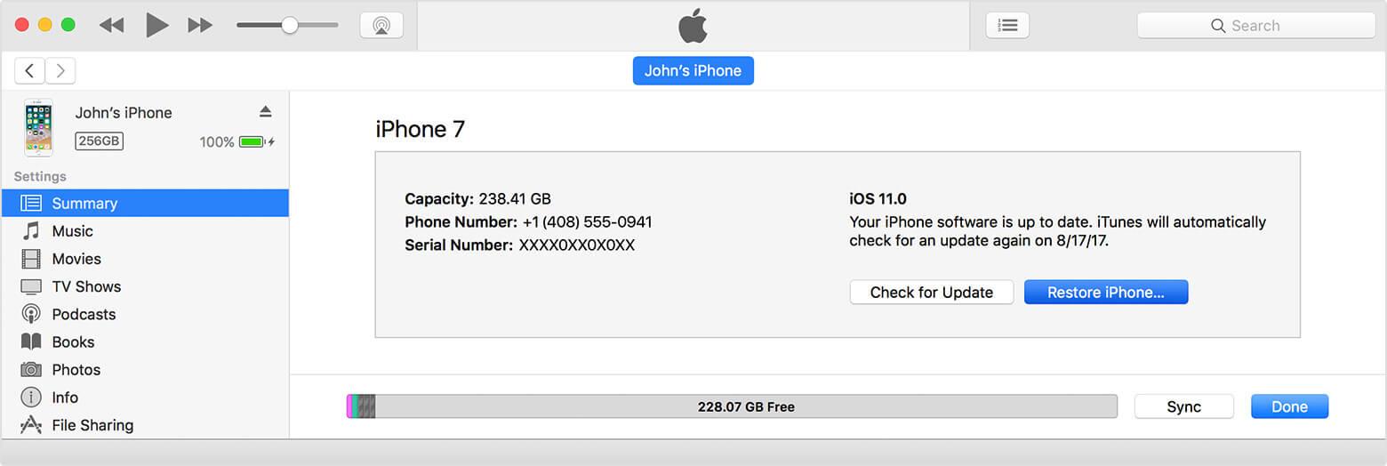 Wiederherstellen von iPhone-Fotos