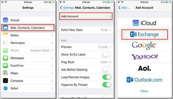 So exportieren Sie iPhone-Kontakte per E-Mail