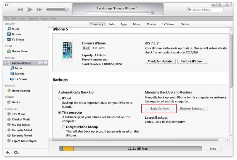 So exportieren Sie iPhone-Kontakte über iTunes