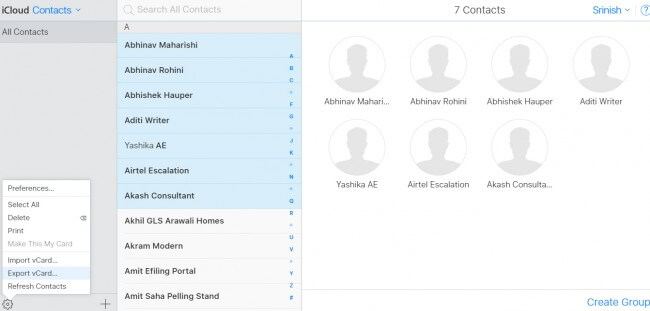 So exportieren Sie iPhone-Kontakte über iCloud