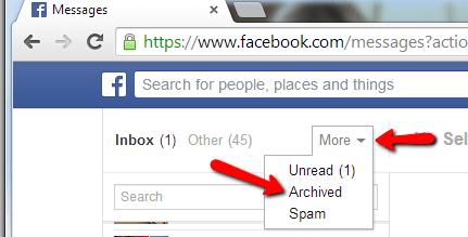 Suche Facebook Archiviert