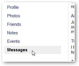 Wählen Sie Nachrichten Fb