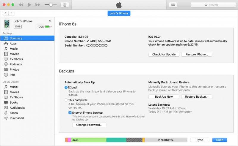 Stellen Sie fehlende Kontakte über iTunes Backup wieder her