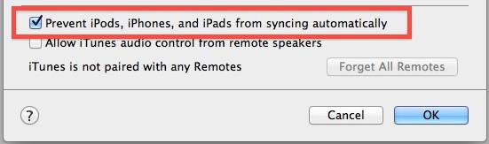 Starten Sie iTunes und verhindern Sie die automatische Synchronisierung