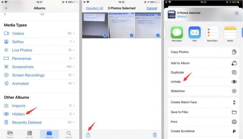Öffne die iPhone Fotos