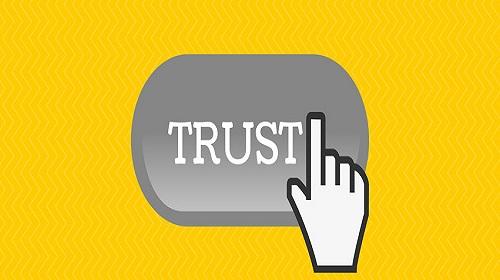 """Schaltfläche """"Vertrauen"""""""