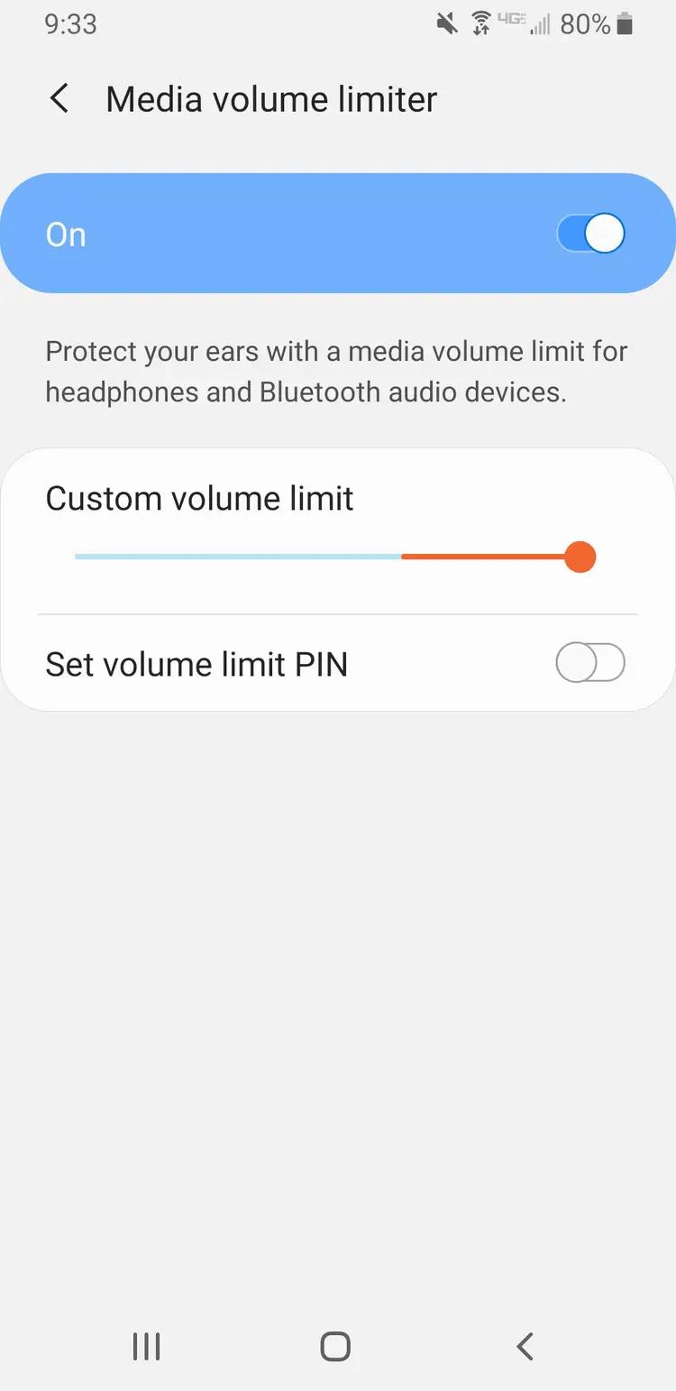 Mein Volumen sinkt von selbst weiter Android, weil automatische Schutzfunktion